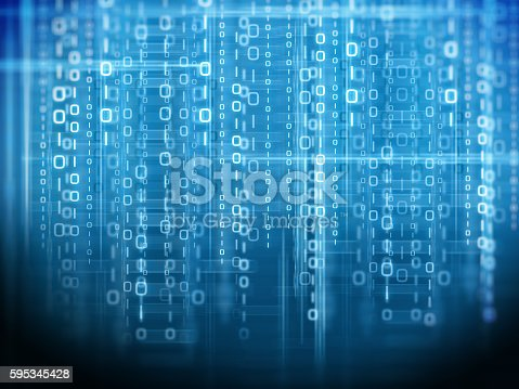 istock Binary code background 595345428