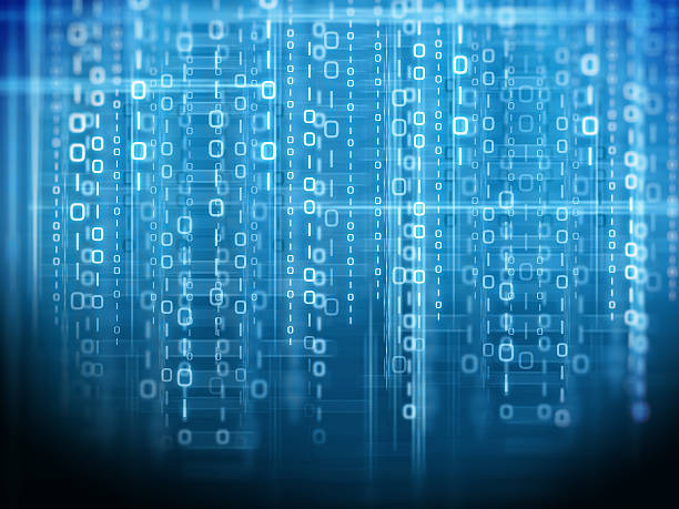 binary code background - computer language stock photos and pictures