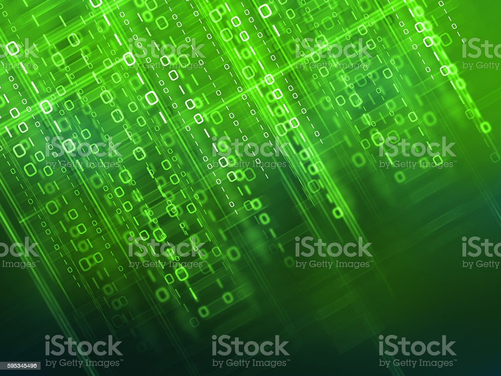 Binary code background stock photo