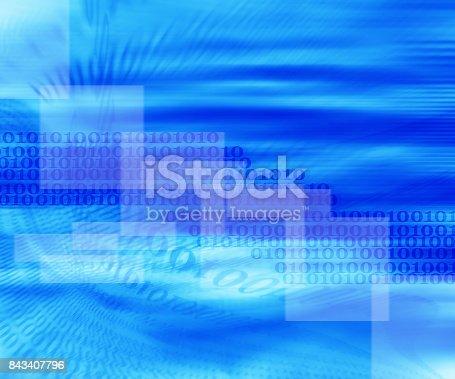 istock Binary code background 843407796