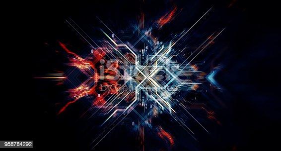 istock Binary code  background 958784292