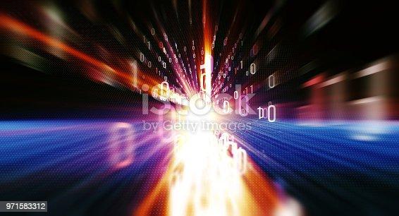 istock Binary code  background 971583312