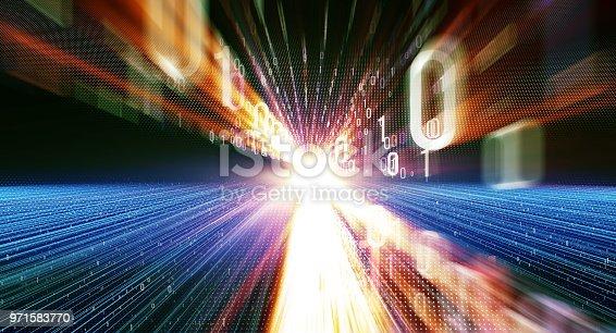 istock Binary code  background 971583770