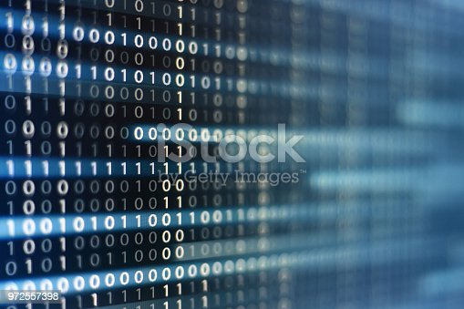 1150846798istockphoto binary code background. upward motion of codes line flowing up. concepts for artificial intelligence programming data transfer and cyber security. 972557398