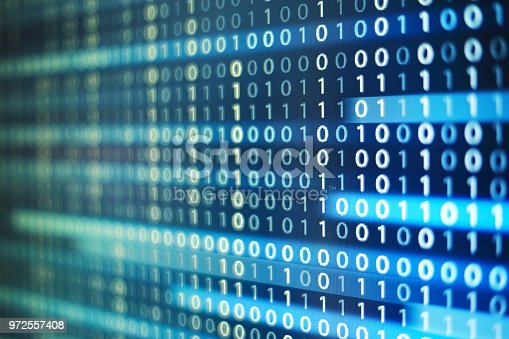 1150846798istockphoto binary code background. upward motion of codes line flowing up. concepts for artificial intelligence programming data transfer and cyber security. 972557408