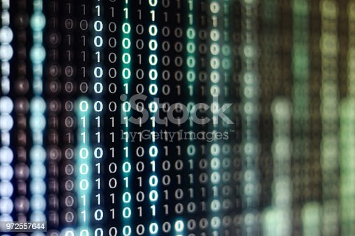 1150846798istockphoto binary code background. upward motion of codes line flowing up. concepts for artificial intelligence programming data transfer and cyber security. 972557644