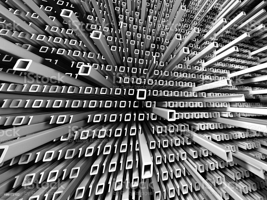 Binary Code Buildings royalty-free stock photo