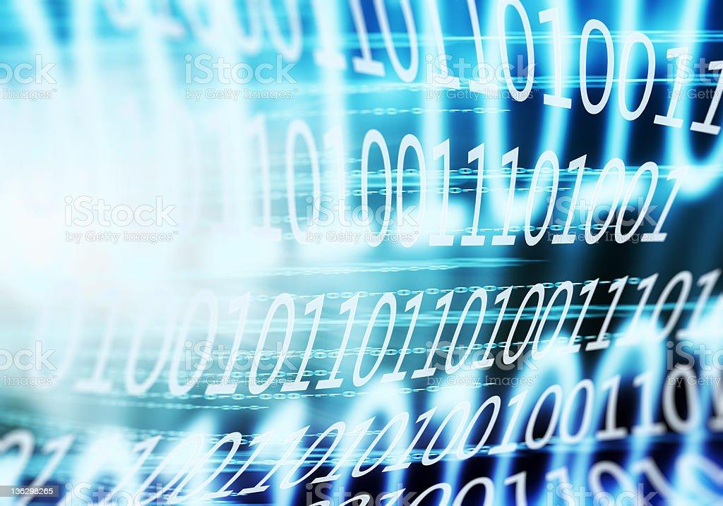 binary code chaotic movement royalty-free stock photo