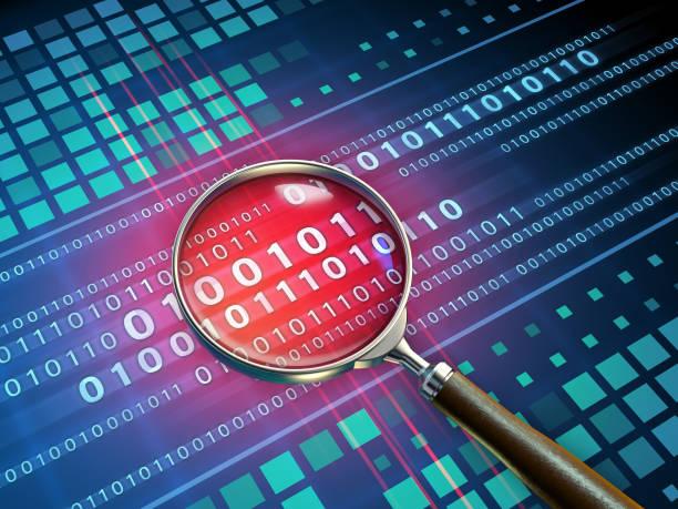 binary code inspection - fragilità foto e immagini stock
