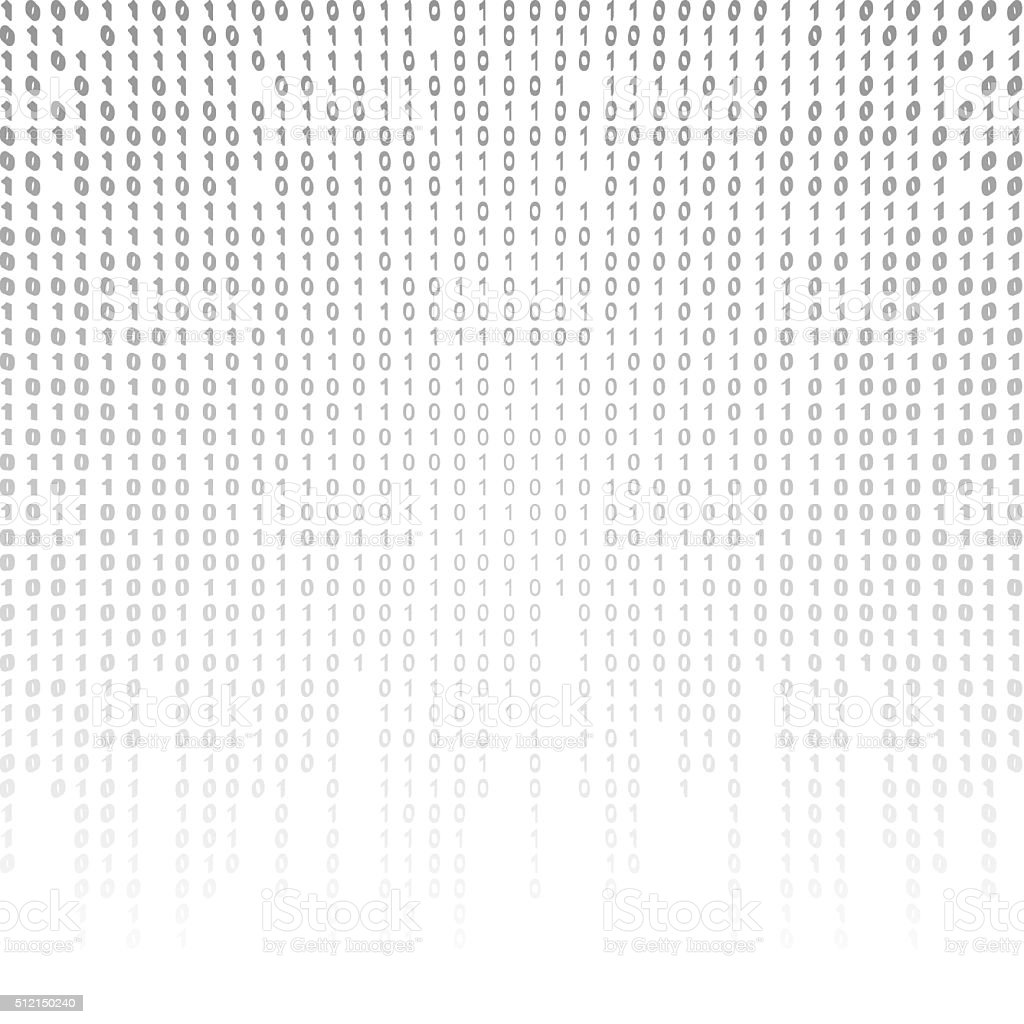 Binary Code On A White Background stock photo iStock