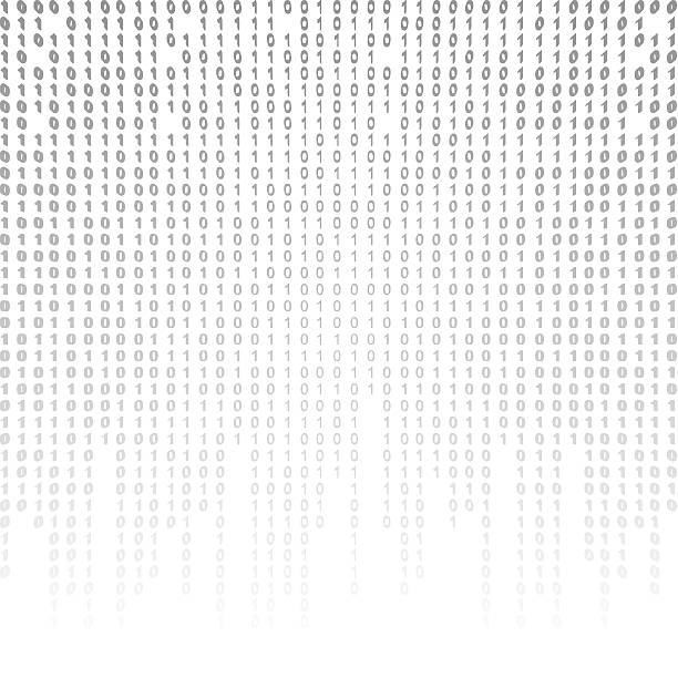 Binary code on a white background. stock photo