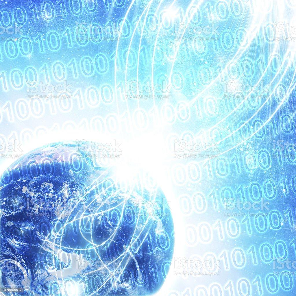 Binary code on high technology royalty-free stock photo