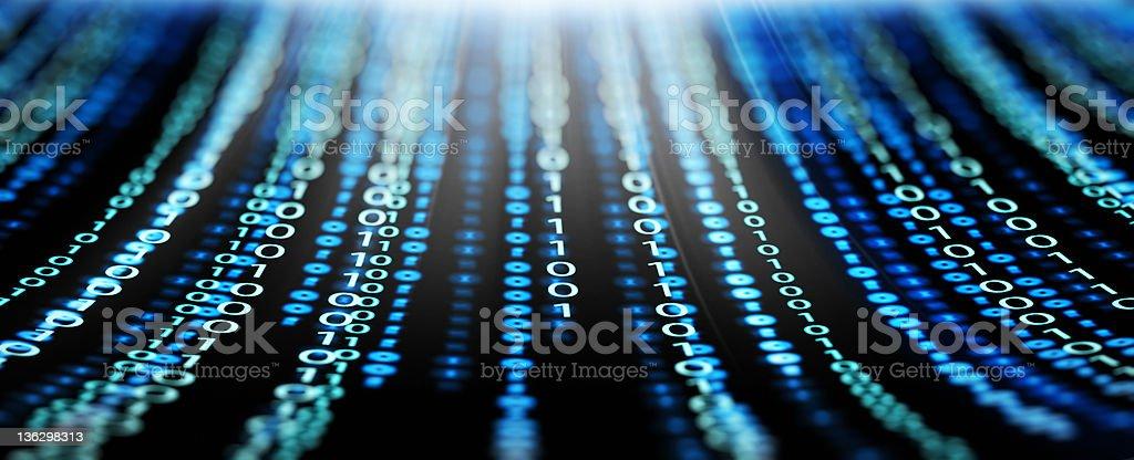 binary code panorama stock photo