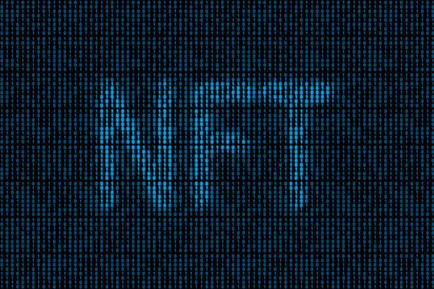 NFT - Binary code stock photo
