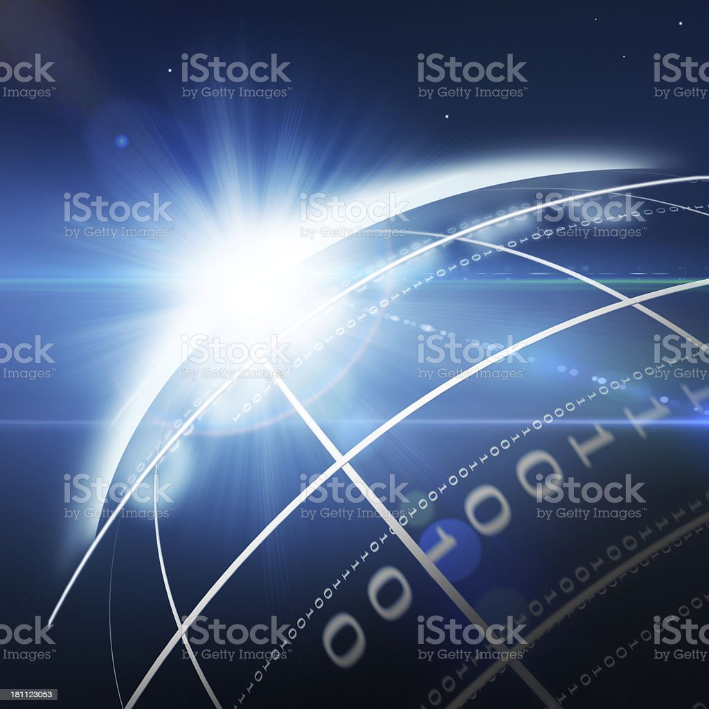 Binary Code Planet royalty-free stock photo