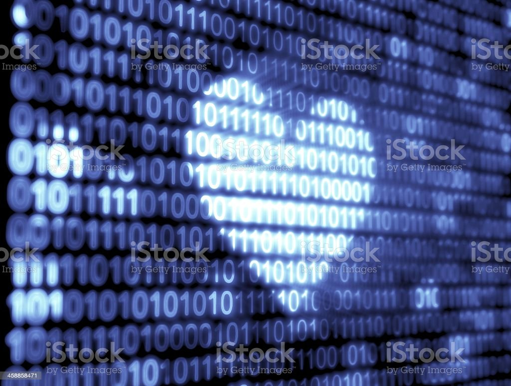 Binary Code Technology royalty-free stock photo