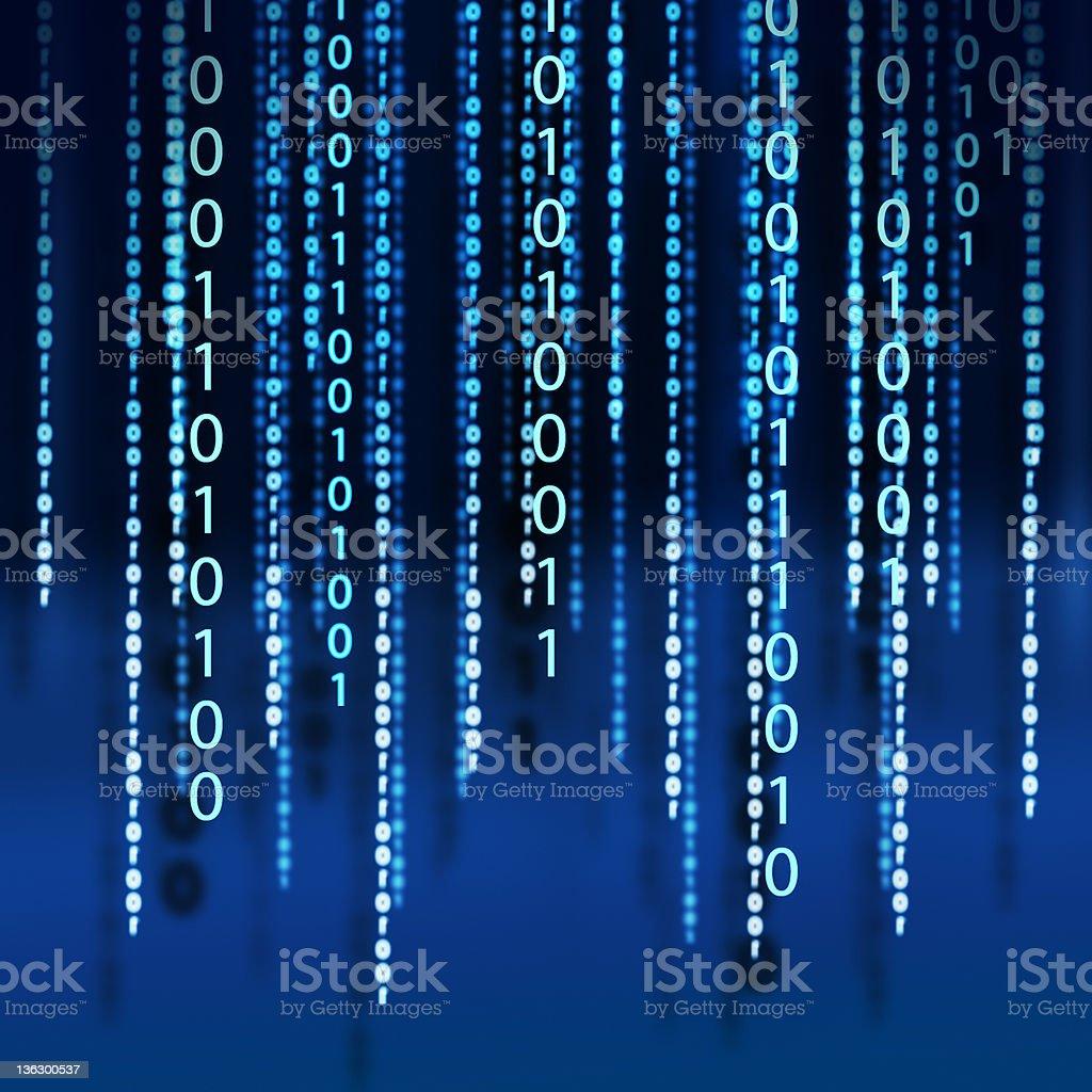 binary code with shadow royalty-free stock photo