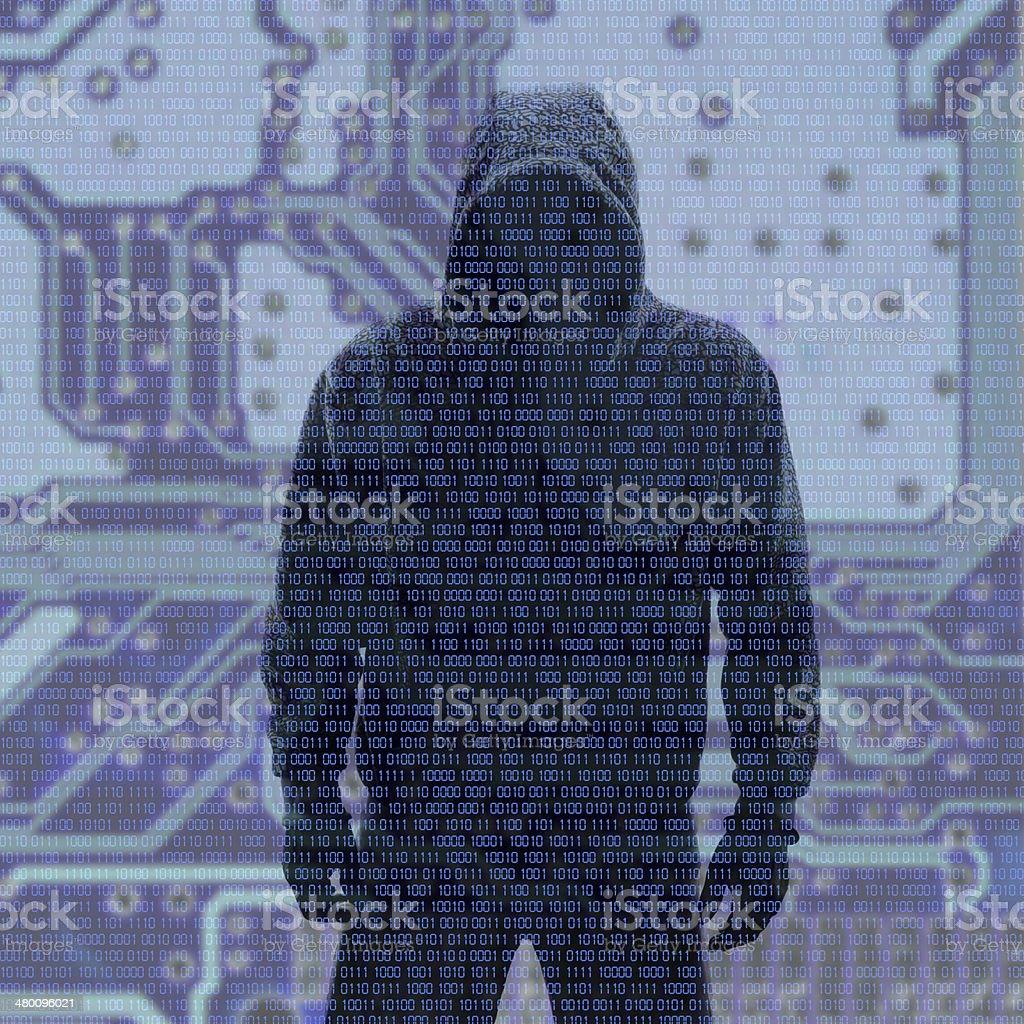 バイナリコード hacked パスワード付き ストックフォト