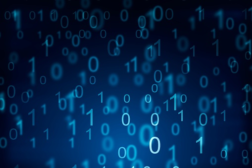 848353924 istock photo Binary computer code on blue background. 01 numbers pattern. Data and technology texture. 3D Rendering 1205459607