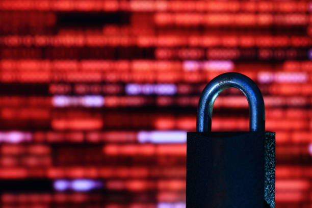 binary computer language red matrix - vr red background imagens e fotografias de stock