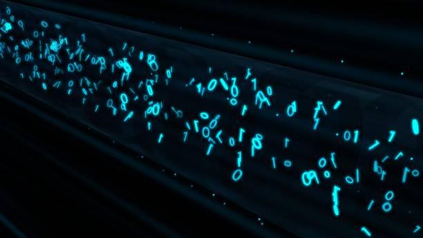 binära dataflöden i krypterad vpn-nätverkstunnelinformationsrör - abstrakt bakgrundsstruktur - vpn bildbanksfoton och bilder