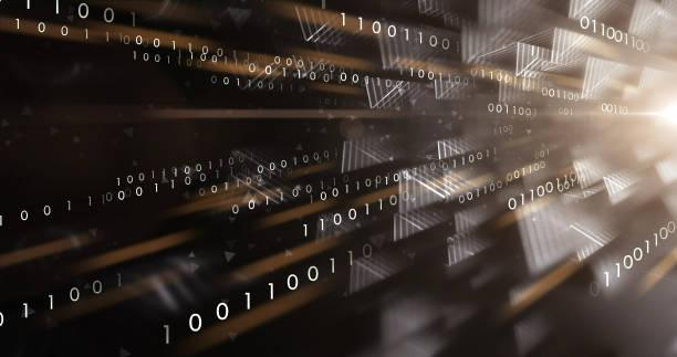 Binary Data Stream (Black) stock photo