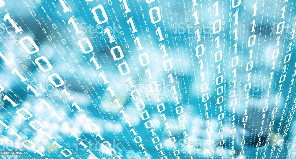 Fotografía de Dígitos Binarios Robado Datos Informáticos Cyber ...