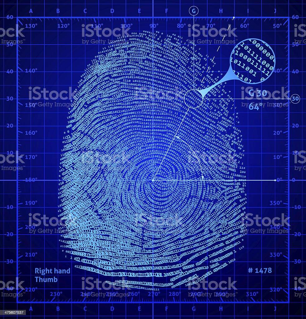 Binary fingerprint stock photo
