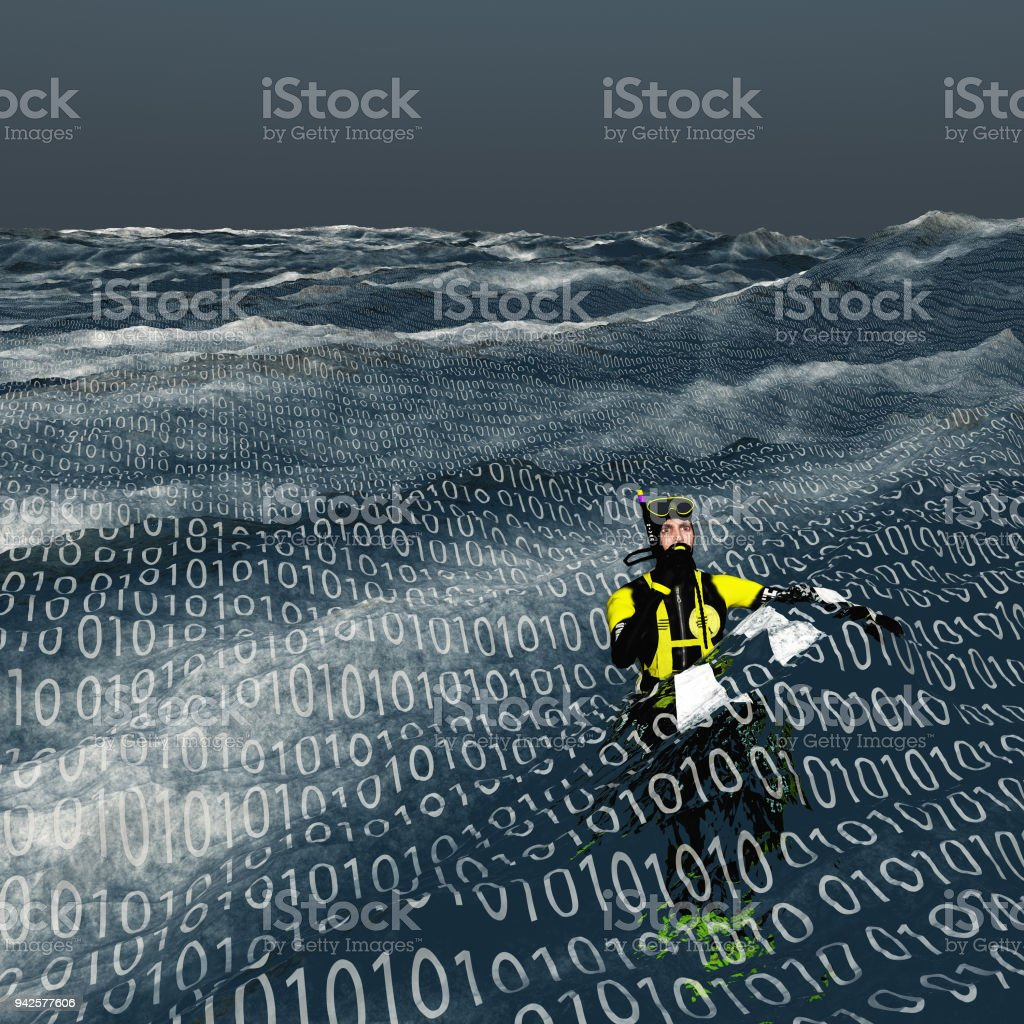 Binary flood royalty-free stock photo