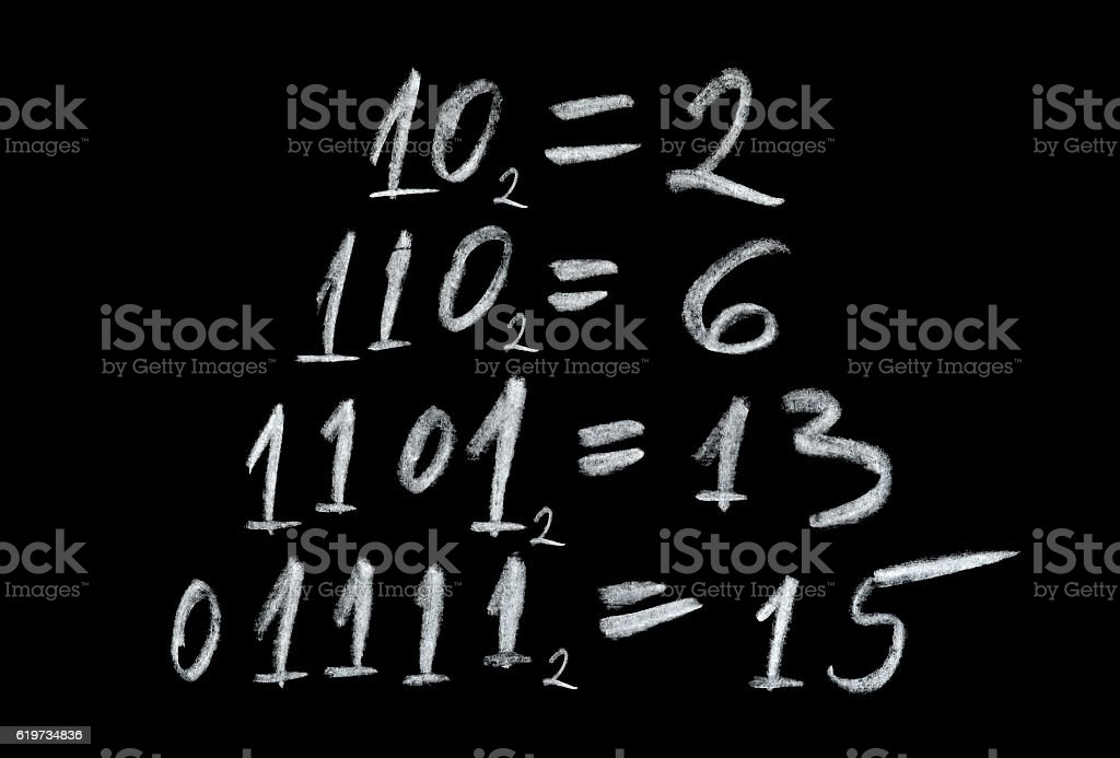 Binary number system stock photo