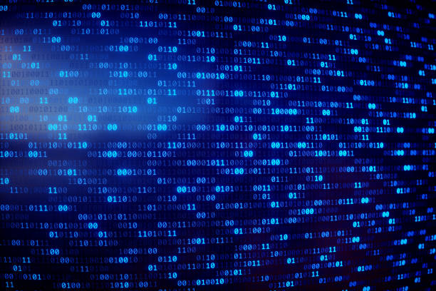 binary numbers dataset blue - bit binary stock pictures, royalty-free photos & images