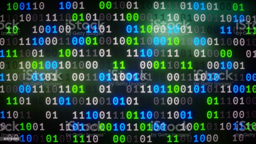 Binary Numbers Dataset Frontal Stock Photo - Download Image