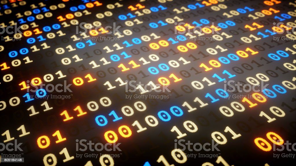 Binary Numbers Dataset Low Angle Stock Photo - Download