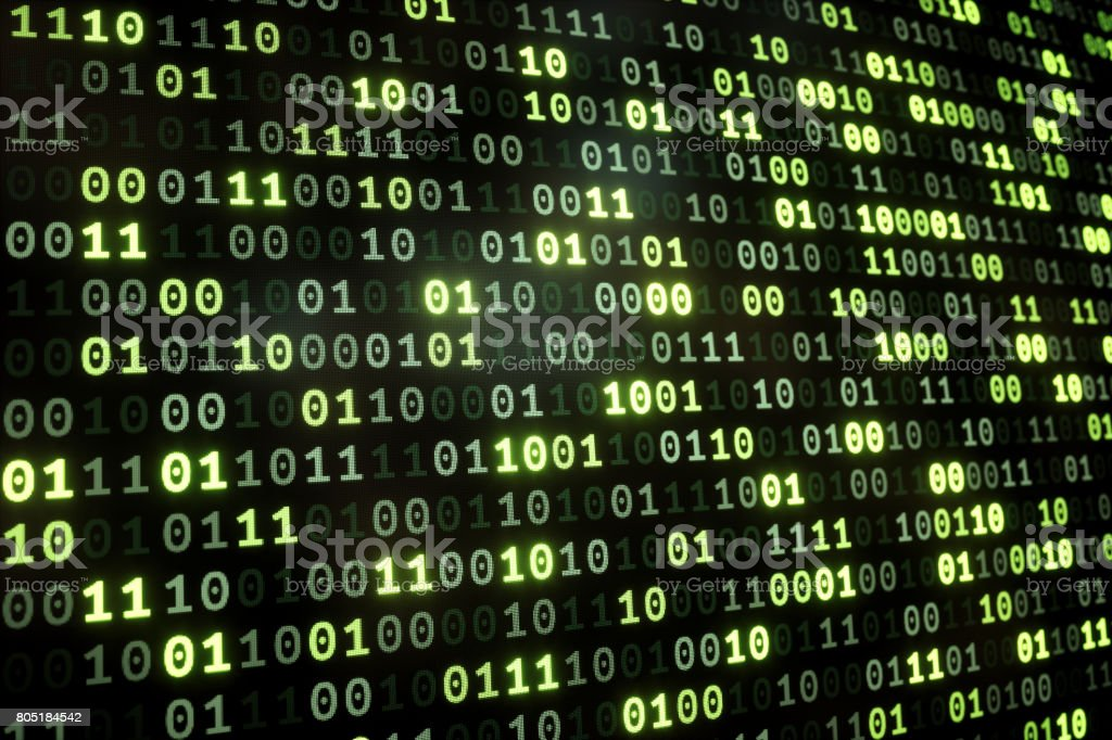 Binary Numbers Dataset Side Stock Photo - Download Image Now