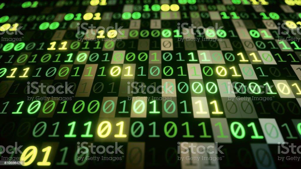 Binary Numbers Low Angle stock photo
