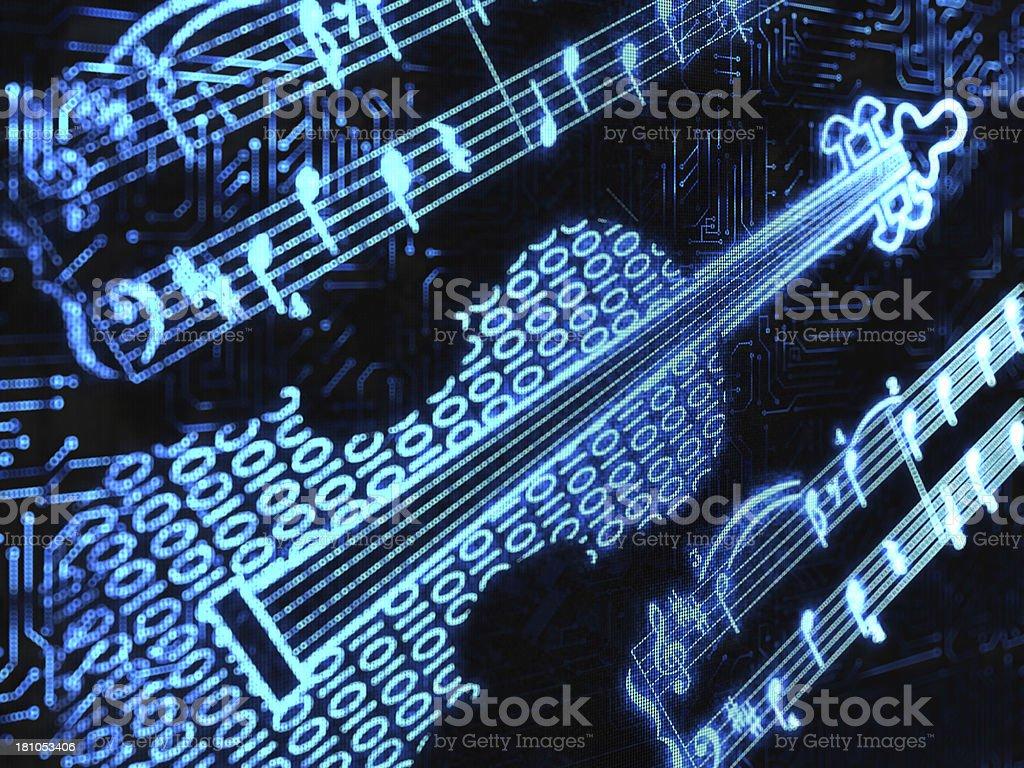 binary violin stock photo