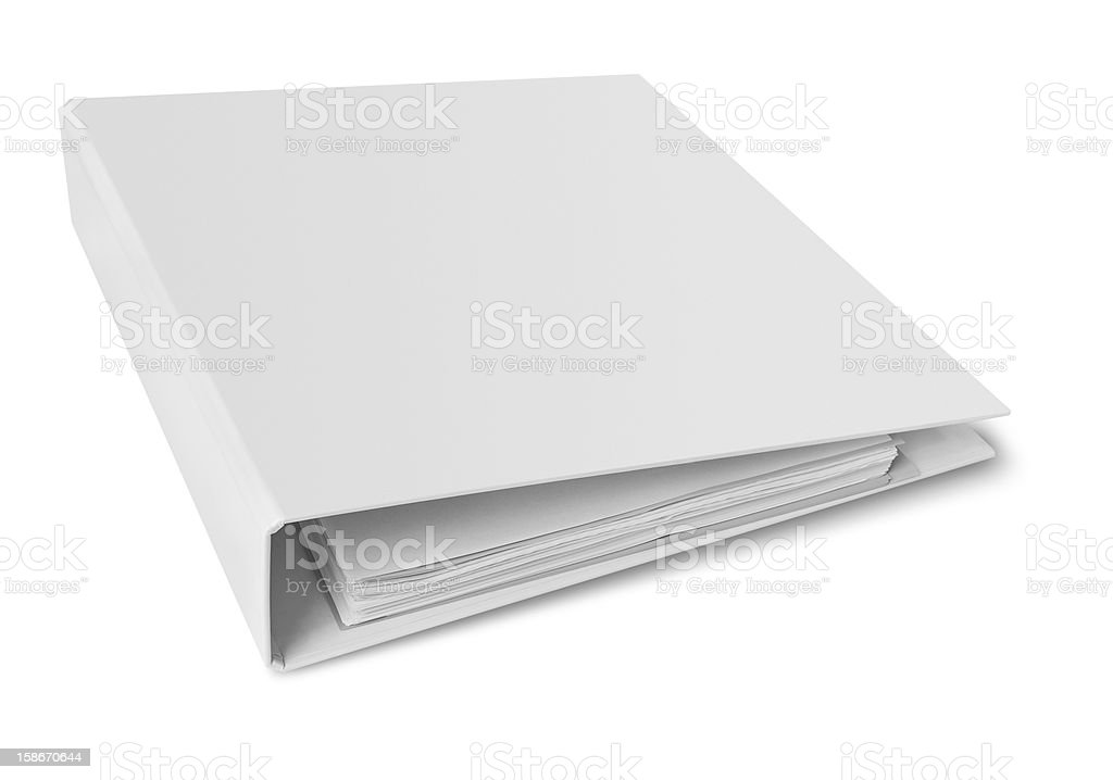 Binder blank file folder Binder blank file folder, clipping path included. Blank Stock Photo