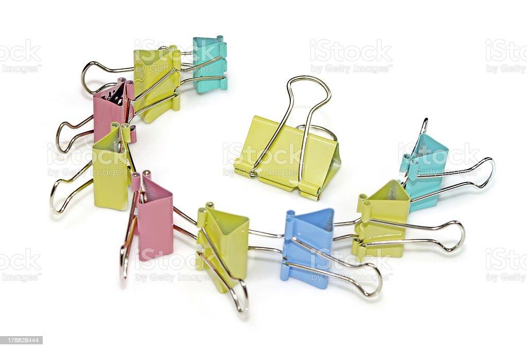 binder clip stock photo