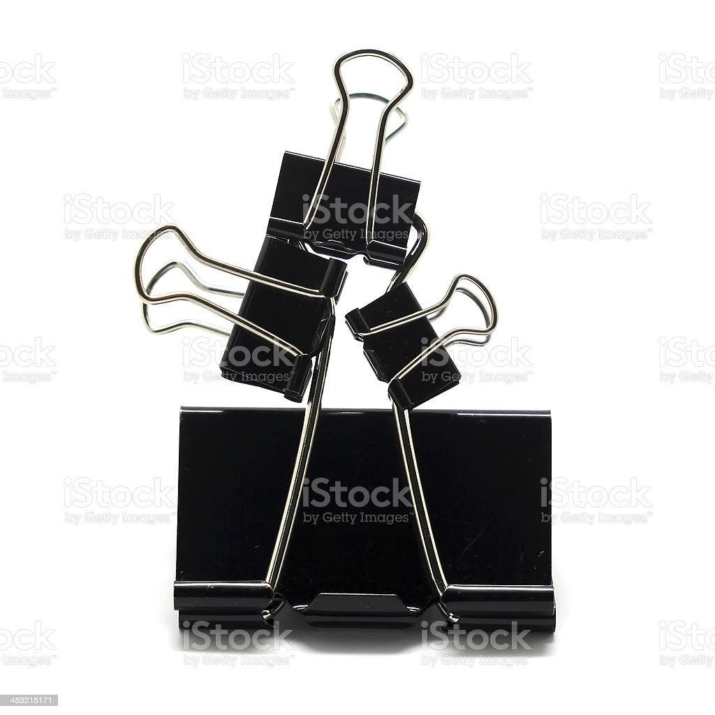 Binder clip royalty-free stock photo