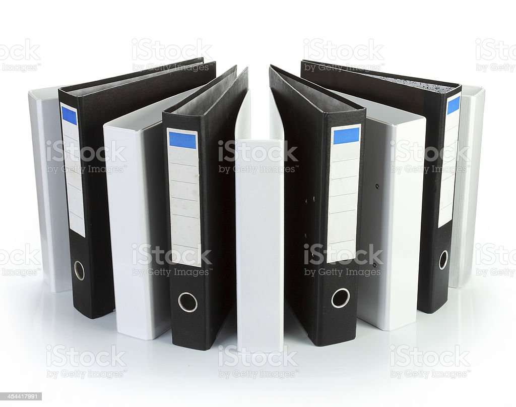 Binder office black and white circle royalty-free stock photo