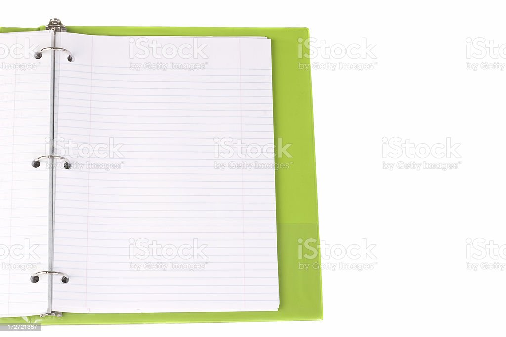 Binder with lined paper royalty-free stock photo