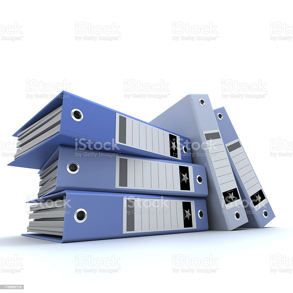 Binders in blue royalty-free stock photo