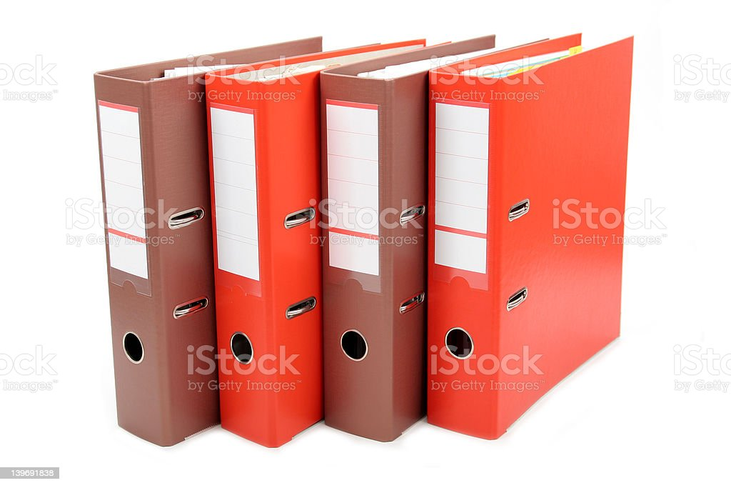 Binders royalty-free stock photo