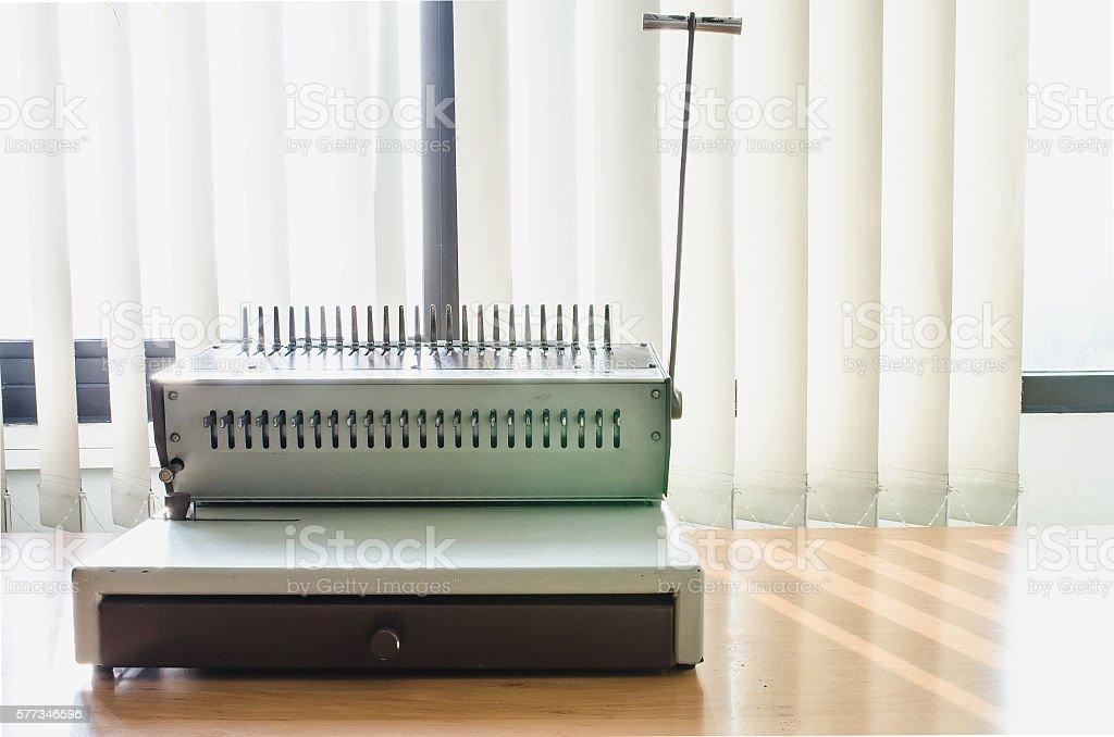 Binding Machines stock photo