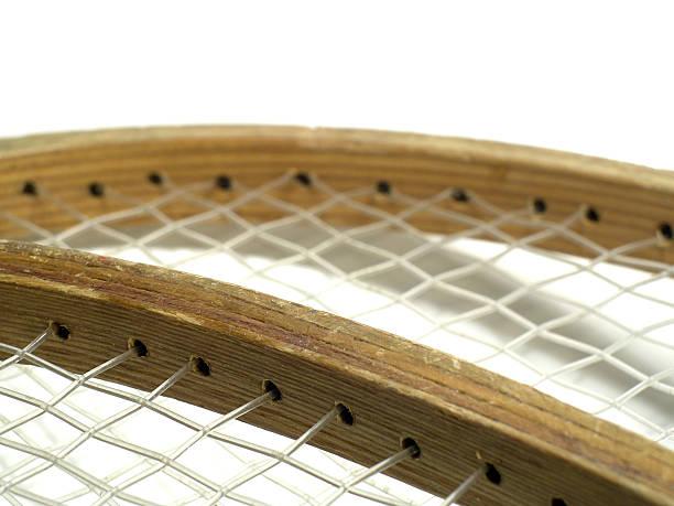 Bindings On Badminton Racquets stock photo