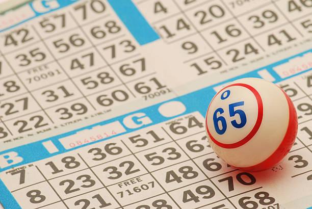 Bingo ball on a new bingo card圖像檔