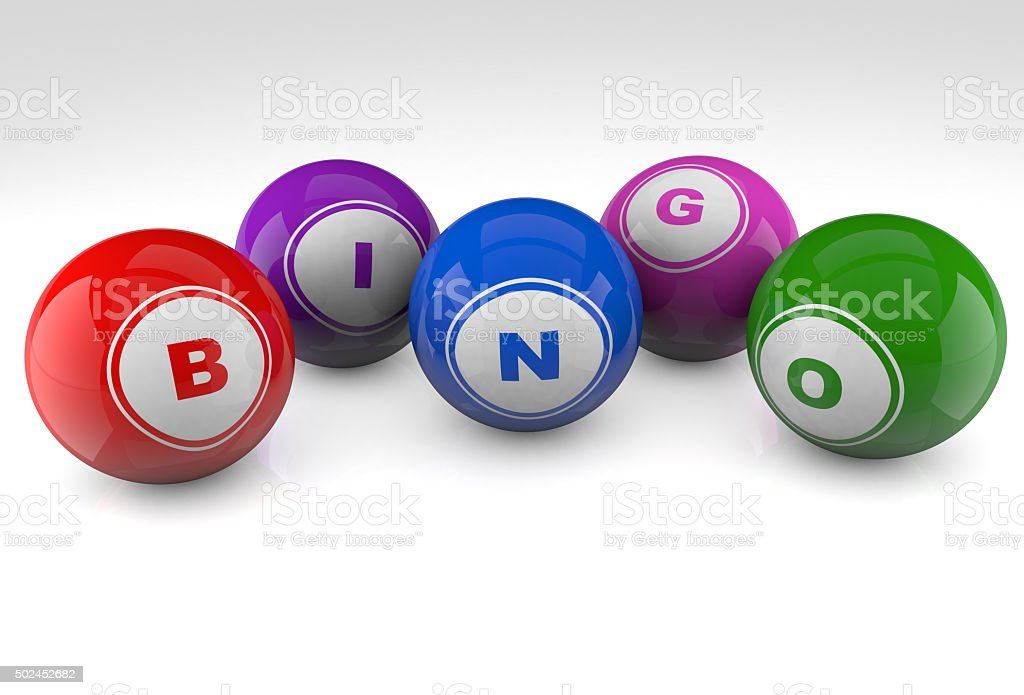 Bingo Balls stock photo