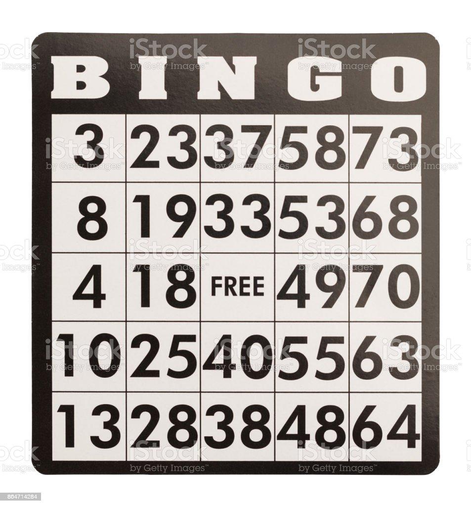 Cartela de Bingo - foto de acervo