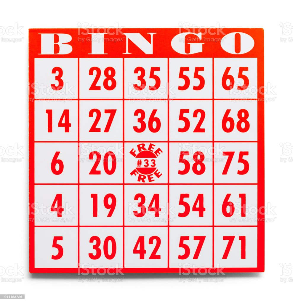 Bingo Card stock photo