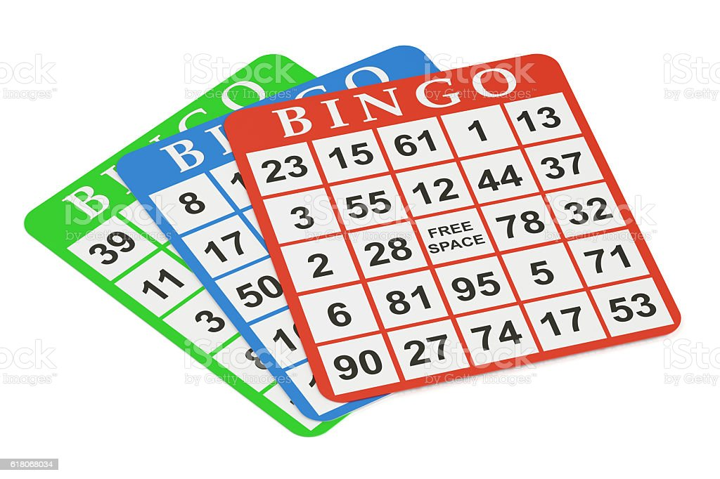bingo cards, 3D rendering stock photo